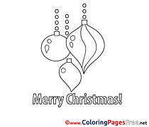 Decoration printable Coloring Pages Christmas