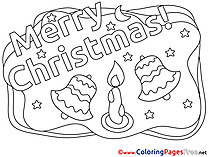 Flame Candle Coloring Pages Christmas