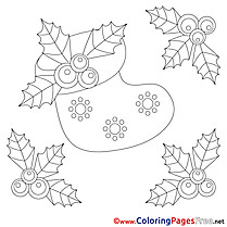 Flowers Coloring Pages Christmas