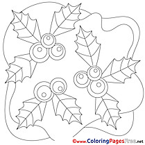 Flowers Kids Christmas Coloring Page