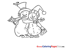 Friends printable Christmas Coloring Sheets