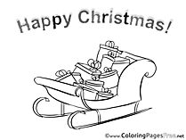 Gifts Christmas Coloring Pages download