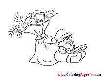 Gifts Christmas Colouring Sheet free