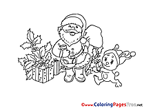 Gifts Kids Christmas Coloring Pages