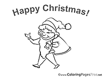 Gnome download Christmas Coloring Pages