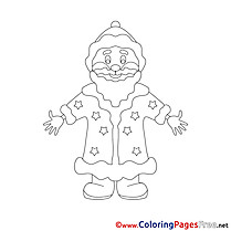 Happiness Christmas Colouring Sheet free