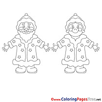 Happiness Santa Claus Christmas Coloring Pages free