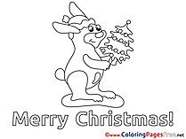 Hare Christmas Coloring Pages download