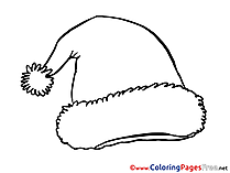 Hat download Christmas Coloring Pages