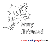 Holiday Christmas Colouring Sheet free