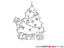 Holiday Coloring Sheets Christmas free