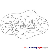 House Coloring Pages Christmas