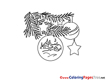 House Toys free Colouring Page Christmas