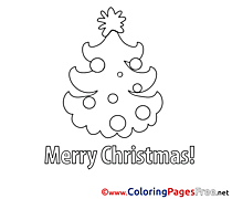 Image Tree free Christmas Coloring Sheets