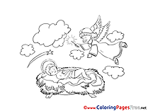 Jesus for Kids Christmas Colouring Page