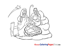 Jesus printable Coloring Pages Christmas