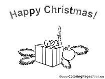 Knot Candle Gift Coloring Pages Christmas