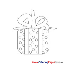 Knot Gift printable Coloring Pages Christmas