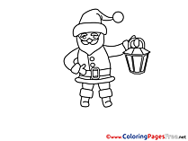 Lantern Christmas Colouring Sheet free