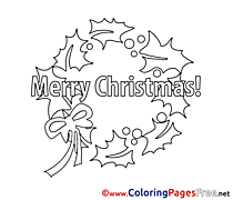 Leaves for Kids Christmas Colouring Page