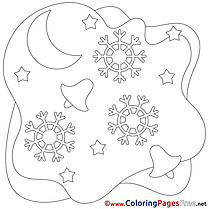 Moon free Christmas Coloring Sheets