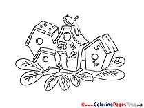 Nesting boxes Coloring Sheets Christmas free