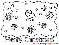 Night for Kids Christmas Colouring Page
