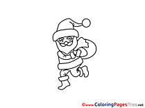 Santa Claus Christmas free Coloring Pages