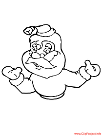 Santa Claus coloring page for free