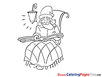 Santa Claus free Christmas Coloring Sheets
