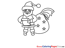 Santa Claus printable Coloring Pages Christmas