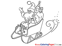 Sleds printable Christmas Coloring Sheets