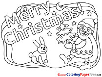 Smile Santa Claus printable Christmas Coloring Sheets