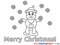 Snowflakes Children Christmas Colouring Page