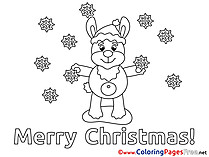 Snowflakes Christmas free Coloring Pages