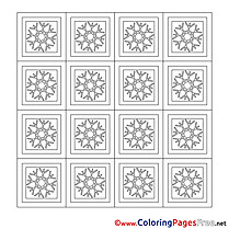 Snowflakes printable Christmas Coloring Sheets