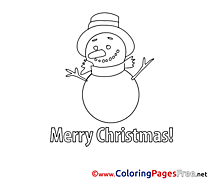 Snowman Christmas Coloring Pages download