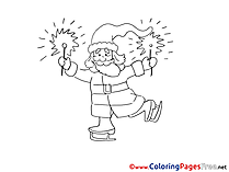 Sparklers Colouring Sheet download Christmas