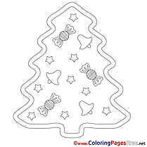 Sweets Christmas Coloring Pages free