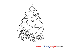 Toys Kids Christmas Coloring Page