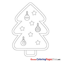 Toys Tree Coloring Sheets Christmas free