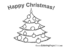 Tree Coloring Sheets Christmas free