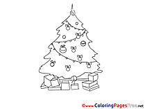 Tree download Christmas Coloring Pages