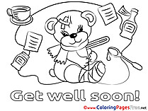 Coloring sheets for kids download for free for Get well soon card coloring pages