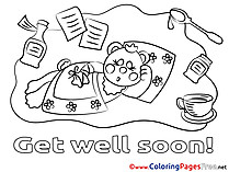 Get well soon coloring cards