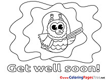 Owl printable Coloring Pages Get well soon