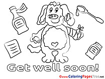 Puppy Coloring Sheets Get well soon free