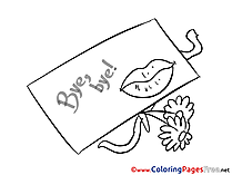 Letter download Good bye Coloring Pages