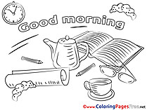 Book Good Morning free Coloring Pages