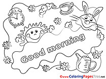 Sun printable Good Morning Coloring Sheets